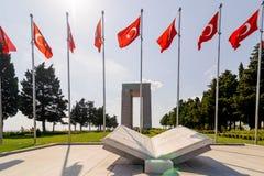 CANAKKALE,土耳其- 2016年9月13日:Canakkale受难者`纪念品是纪念服务大约253,000 Turkis的战争纪念建筑 库存照片