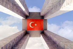 CANAKKALE,土耳其- 2016年9月13日:Canakkale受难者`纪念品是纪念服务大约253,000 Turkis的战争纪念建筑 图库摄影