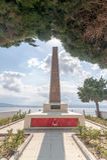 CANAKKALE, ΤΟΥΡΚΙΑ 12 ΣΕΠΤΕΜΒΡΊΟΥ 2016: Νεκροταφείο και μνημείο Havuzlar Αυτό το νεκροταφείο βρίσκεται 3 χλμ μετά από Kilitbahir  Στοκ Εικόνες