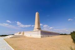 CANAKKALE, ΤΟΥΡΚΙΑ - 9 ΣΕΠΤΕΜΒΡΊΟΥ 2016: Το μνημείο Helles εξυπηρετεί τη διπλή λειτουργία του μνημείου μάχης Κοινοπολιτείας για τ Στοκ εικόνες με δικαίωμα ελεύθερης χρήσης