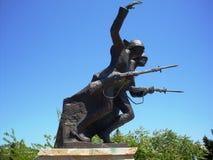 Canakkale, cicatrices ascendentes de la batalla de los pavos reflejó en esta escultura Fotografía de archivo libre de regalías