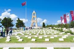 Canakkale, die Türkei - 10. August 2018: Dieses Martyrium wurde im Gedächtnis des 57. Regiments aufgebaut, das Tausenden Märtyrer lizenzfreie stockfotografie