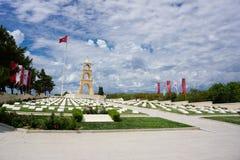 Canakkale, die Türkei 23 05 2018: Martyrium wurde im Gedächtnis von Märtyrern aufgebaut lizenzfreie stockfotos