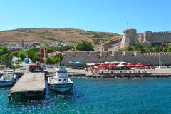 Canakkale et vues de château photographie stock libre de droits