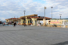 Canakkale ferry pier in the morning. Turkey Stock Image