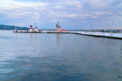 Canakkale ferry pier in the morning. Turkey Royalty Free Stock Photo