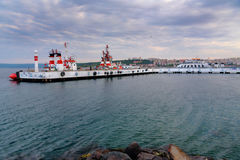 Canakkale ferry pier in the morning. Turkey Royalty Free Stock Images