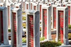 Canakkale LA TURQUIE - 7 MAI 2016 : Canakkale Martyrs Mili commémoratif images stock