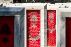 Canakkale LA TURQUIE - 7 MAI 2016 : Canakkale Martyrs Mili commémoratif photos stock