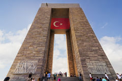 Canakkale męczenników pomnik jest wojennym pomnikiem upamiętnia usługa wokoło 253.000 turecczyzna Fotografia Stock