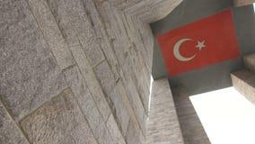 Canakkale martert Denkmal in Gallipoli die Türkei stock footage