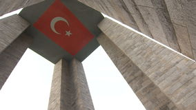 Canakkale martert Denkmal in Gallipoli die Türkei stock video