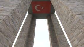 Canakkale martert Denkmal in Gallipoli die Türkei stock video footage