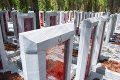 Canakkale Martyrs el cementerio militar conmemorativo foto de archivo