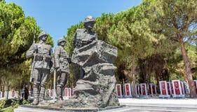 Canakkale Martyrs le cimetière militaire commémoratif dans Canakkale photos libres de droits