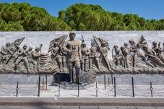 Canakkale Martyrs le cimetière militaire commémoratif dans Canakkale images libres de droits