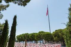 Canakkale Martyrs le cimetière militaire commémoratif dans Canakkale images stock