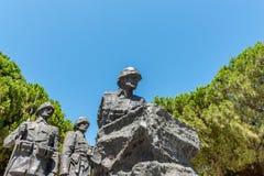 Canakkale Martyrs le cimetière militaire commémoratif dans Canakkale image libre de droits