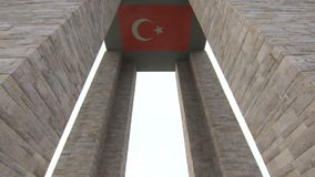 Canakkale martyrs memorial in Gallipoli Turkey. In the memory of those who lost their lives in 1915 during the World War One battles between Turkish and British stock video footage