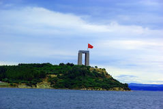 Canakkale martyrs memorial view from sea Stock Photos