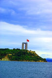 Canakkale martyrs memorial view from sea Stock Photography