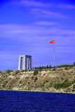 Canakkale martyrs memorial view from sea Royalty Free Stock Photo