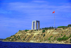 Canakkale martyrs memorial view from sea Stock Image