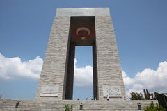 Canakkale Monument. Monument of Canakkale Martyrs in Turkey Stock Photo