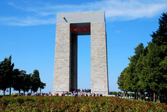 Canakkale monument. Monument of Canakkale of first world war Stock Images