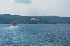 Canakkale monument i gallipolien, Turkiet Arkivbild