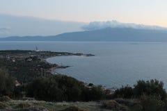 Aegean sea and pony island Royalty Free Stock Image