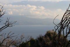 Aegean sea and pony island Stock Images