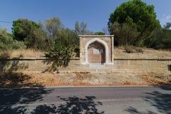 CANAKKALE, SEP, 2016 VAN TURKIJE 12: Halilpasha fontein dichtbij door Havuzlar Cemetery en Gedenkteken Deze fontein ligt 3km na K Royalty-vrije Stock Fotografie