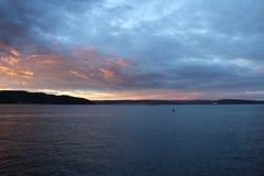 Gallipoli sunsets. Canakkale strait and sunset in Gelibolu sea Stock Photos