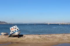 Canakkale throat and fishing boat Royalty Free Stock Photography