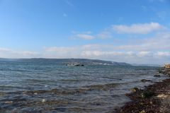 Sea and calm skies. Canakkale throat and Geliboluda sea and calm skies Stock Photos