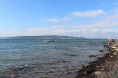 Sea and calm skies. Canakkale throat and Geliboluda sea and calm skies Stock Images