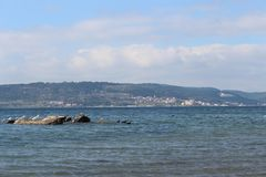 Sea and calm skies. Canakkale throat and Geliboluda sea and calm skies Royalty Free Stock Image
