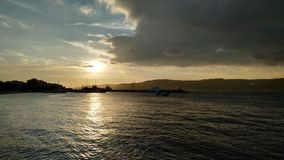 Sunset over the Dardanelles stock photos
