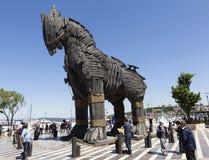 CANAKKALE, TURCHIA - 10 MAGGIO 2015: Foto del cavallo di Troia, fatta per il film Fotografia Stock