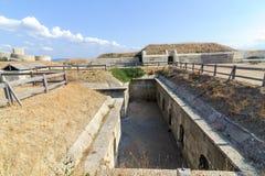 CANAKKALE, TURCJA SEP 12, 2016: Rumeli Mecidiye emplacement fortu turecczyzna Tabya Ten emplacement HMS oceanu szlagierowy pancer Fotografia Royalty Free