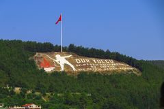 Dur Yolcu memorial in Canakkale Royalty Free Stock Photography
