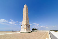 CANAKKALE, TURKEY - SEP 9, 2016:Helles Memorial serves the dual function of Commonwealth battle memorial for the Gallipoli campaig Royalty Free Stock Photography