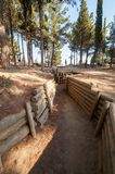 CANAKKALE, TURKEY- SEP 12, 2016: Inside the Turkish trenches. About 253K Turkish soldiers who participated at Battle of Stock Image