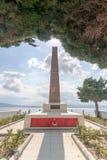 CANAKKALE, TURQUIA 12 DE SETEMBRO DE 2016: Cemitério e memorial de Havuzlar Este cemitério encontra-se 3 quilômetros após Kilitba Foto de Stock