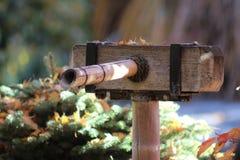 Canalón de agua en Zen Garden Foto de archivo