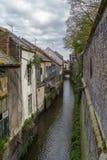Canal à Amiens, France Photographie stock