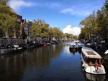 Canal à Amsterdam photo stock