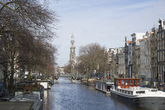 Canal à Amsterdam Image stock