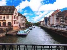 Canal à Amsterdam, Pays-Bas Photo libre de droits